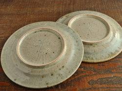 わら灰釉六寸リム皿-6